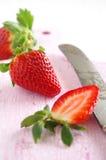 Świeże i zdrowe truskawki Fotografia Stock