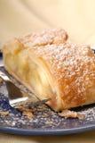 świeże jabłkowy sproszkowany strucla cukru obrazy stock