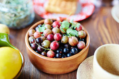 Świeże jagody dla śniadania Zdjęcie Stock