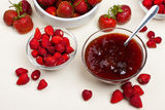 Świeże jagody i dżem Obraz Royalty Free