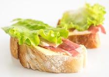 świeże kanapki dwa Zdjęcia Royalty Free
