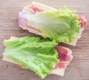 świeże kanapki dwa Zdjęcia Stock
