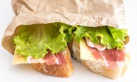świeże kanapki dwa Fotografia Royalty Free