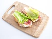 świeże kanapki dwa Zdjęcie Stock
