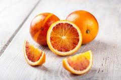 Świeże krwionośne pomarańcze zdjęcie royalty free