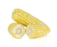 Świeże kukurudze odizolowywają na białym tle Obraz Stock