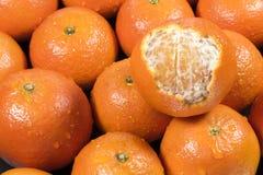 Świeże mandarynek pomarańcze Obrazy Stock