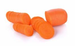 Świeże marchewki odizolowywać na białym tle Obraz Royalty Free
