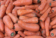 Świeże marchewki przy rolnikami rynki, Chile Zdjęcia Stock