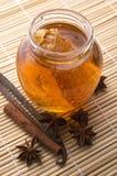 świeże miodowe honeycomb przyprawy Zdjęcie Royalty Free