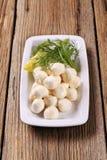 Świeże mozzarella sera piłki Zdjęcia Royalty Free