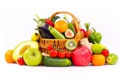 Świeże, organicznie owoc, i warzywa zdjęcie stock