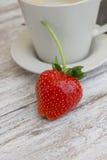świeże organicznie truskawki Obrazy Royalty Free