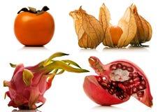 Świeże owoc nad bielem Zdjęcie Stock