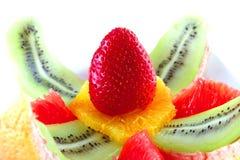 świeże owoc słuzyć biel Zdjęcie Stock