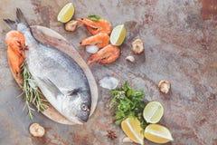 świeże owoce morza Obraz Royalty Free