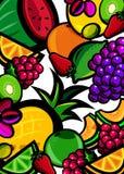 świeże owoce tło Obrazy Royalty Free