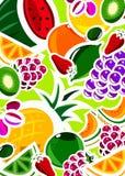 świeże owoce tło royalty ilustracja