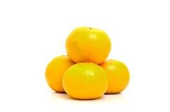Świeże pomarańcze odizolowywają na białym tle Obraz Royalty Free