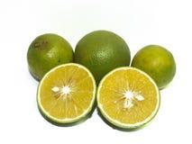 Świeże pomarańcze, owoc, żółte pomarańcze zdjęcia royalty free