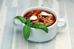 świeże pomidory zupy Fotografia Royalty Free