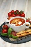 świeże pomidory zupy Obraz Stock