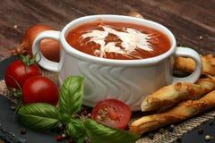 świeże pomidory zupy Zdjęcia Royalty Free