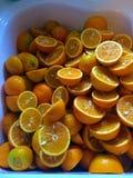Świeże rżnięte pomarańcze Obrazy Royalty Free