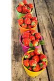Świeże słodkie truskawkowe jagody Zdjęcia Royalty Free