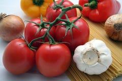 świeże składniki makarony zdjęcie stock