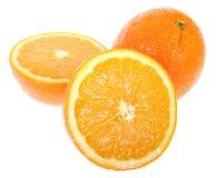 świeże soczyste pomarańcze Zdjęcia Stock