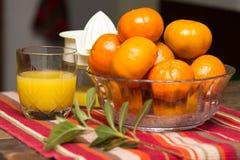 świeże sok pomarańczowy Obraz Stock