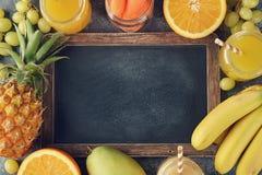 świeże soki owocowe Obraz Royalty Free