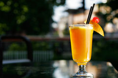 świeże szklana sok pomarańczowy Fotografia Royalty Free