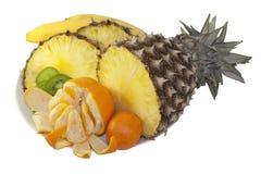 Świeże tropikalne owoc odizolowywać na bielu Fotografia Royalty Free