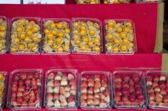 Świeże truskawki, Świezi gwiazdowi agresty i Obraz Royalty Free