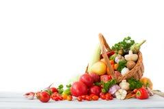 świeże warzywa koszykowi Zdjęcie Royalty Free