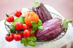 świeże warzywa misek Obraz Royalty Free
