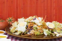 świeże warzywa sałatkowi Fotografia Stock