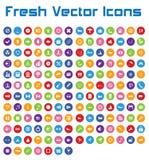 Świeże Wektorowe ikony (okrąg wersja II) Obrazy Royalty Free
