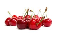Świeże wiśnie, odizolowywać Fotografia Royalty Free