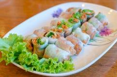 Świeże wiosen rolki (Wietnam jedzenie) fotografia royalty free