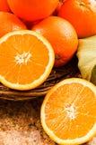 świeże zdrowe pomarańcze Obrazy Royalty Free