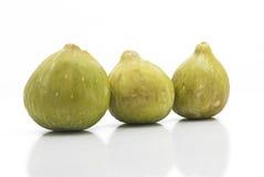 Świeże zieleni figi odizolowywać Zdjęcia Royalty Free