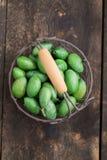 świeże zielone oliwki Obraz Royalty Free