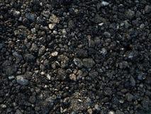 Świeżego blacktop żwiru zmielony Drogowy materiał zdjęcia royalty free