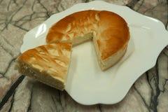 Świeżego cheesecake karmowa świeża świeżość domowej roboty, zdjęcia royalty free