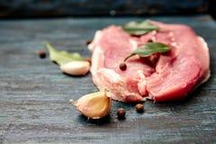 świeżego mięsa surowy stek Obraz Royalty Free