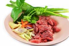 świeżego mięsa warzywa Fotografia Royalty Free