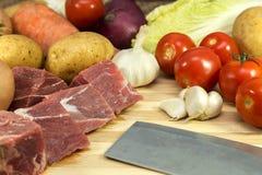 świeżego mięsa warzywa Zdjęcia Stock